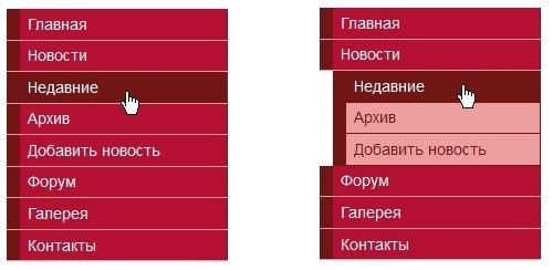 Список второго уровня