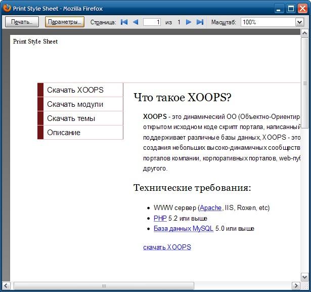 Вид страницы в режиме Предварительный просмотр