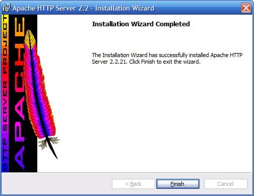 Установка сервера Apache. Шаг 8