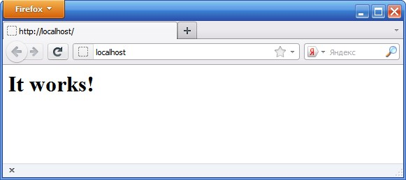 Стартовая страница сервера Apache