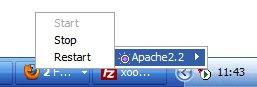 Перезапуск сервера Apache. Вариант 2