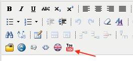 выбор кнопки youtube